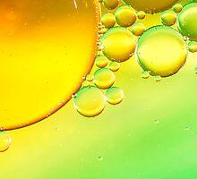 Yellow Green Bubbles Macro by MMPhotographyUK