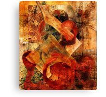 Abstract Abstractions ~ Primitive Fight. Canvas Print