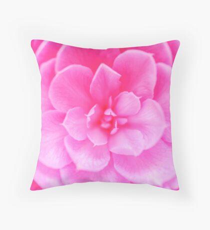 Abstract Pink Rose Throw Pillow
