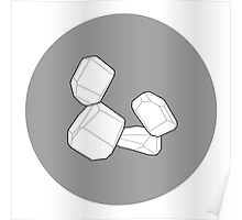 Stacked Blocks: White Poster