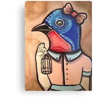Blue Bird Babe Metal Print