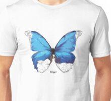 Geometric Animal - Blue Butterfly Unisex T-Shirt
