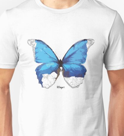 Geometric Animal - Blue Butterfly Unisex T-Shirt