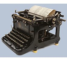 OLD SCHOOL TYPEWRITER-2 Photographic Print