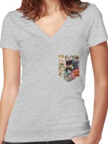 POCKET PUSSIES Women's Fitted V-Neck T-Shirt