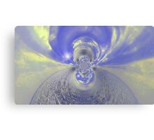 Blue Psychedelic Design Canvas Print