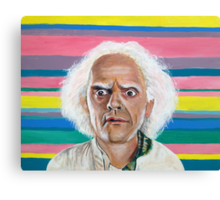 Great Scott :: Doc Brown from Back to the Future Inspired Fan Art Canvas Print