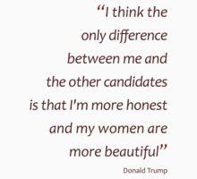 More honest, more beautiful women - Trump (Amazing Sayings) Kids Clothes