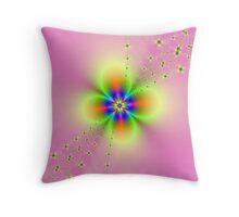 Flower Spray on Pink Throw Pillow