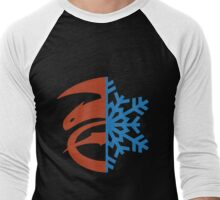 Hijack Ship Symbol - Black Men's Baseball ¾ T-Shirt