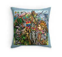 Animals Great and Small Throw Pillow