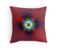 Floral Spray on Red Throw Pillow