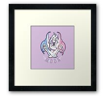 Clown of the Moonless Night Framed Print