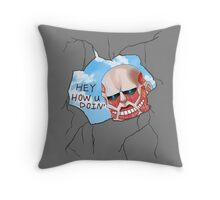 Attack on Throw Pillow