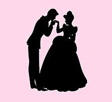 Cinderella and Prince Charming Silhouette by Flaaffy