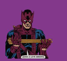 Gosh, Hawkeye loves arrows by Flippinawesome