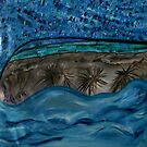 Palm trees in the Ocean by Dianne Rini