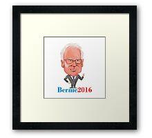 Bernie 2016 Democrat President Caricature Framed Print