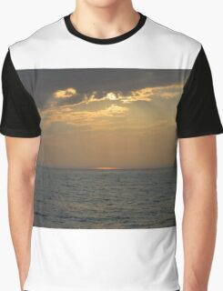 Sunset On The Michigan Great Lakes Graphic T-Shirt