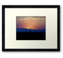 Lines of Communication with verse Framed Print