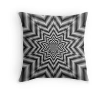 Optically Challenging Star in Black and White Throw Pillow