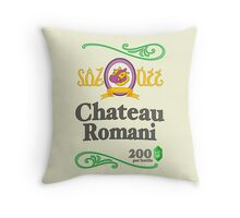 Chateau Romani (Light Shirt) Throw Pillow