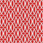 Harlequin Lattice in Red by House of  Jennifer