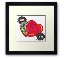 Valentines Candy for Soot Sprites Framed Print