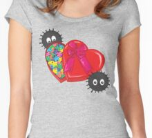 Valentines Candy for Soot Sprites Women's Fitted Scoop T-Shirt