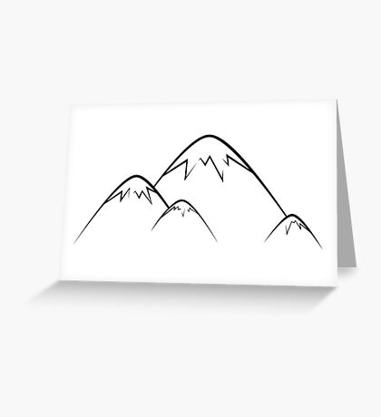 Mountains Outline Greeting Card