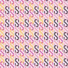 Retro Chain Pattern - Pink by Jack Howse