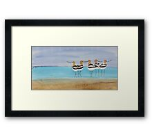 Chance Encounter at the Beach Framed Print