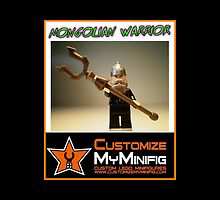 Customize My Minifig Collector Card 16 - Custom LEGO® 'Mongolian Warrior' by Chillee