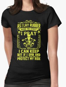 Bikers Prayer Womens Fitted T-Shirt