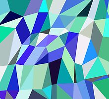 Aqua Geometry by House of  Jennifer