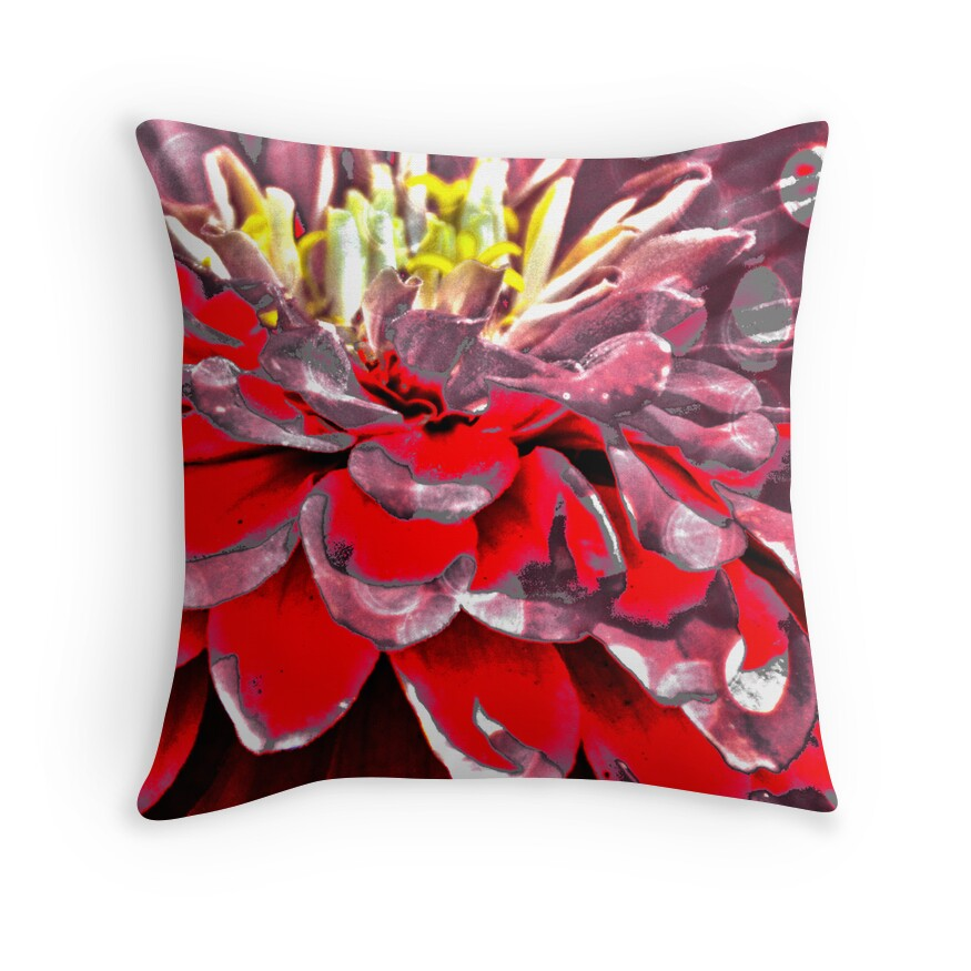 Modern Red Decorative Pillows :