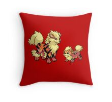 Growlithe and Arcanine V.3 Throw Pillow