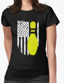 Bowling Flag T-shirt Womens Fitted T-Shirt