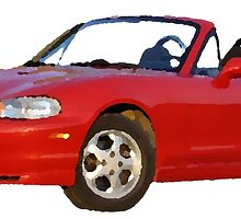 Oil painted Mazda Miata by maxmike181