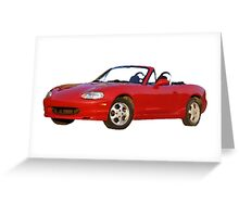 Oil painted Mazda Miata Greeting Card