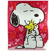 Snoopy before valentine Poster