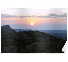 Sunset on the Mountain Poster