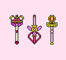 Pixel Sailor Moon Wands by Flaaffy