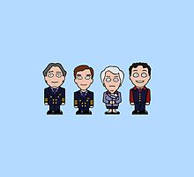 Cabin Pressure mini people (pillow or bag) by redscharlach