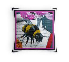 Buzzed Bumble Bee Throw Pillow