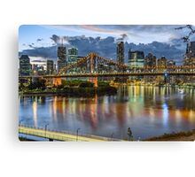 Brisbane and the Story Bridge Sunset Canvas Print
