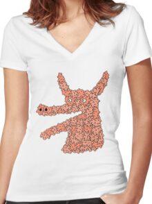 bubbleanimal Women's Fitted V-Neck T-Shirt