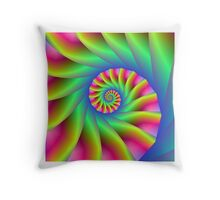 Psychedelic Spiral Steps Throw Pillow
