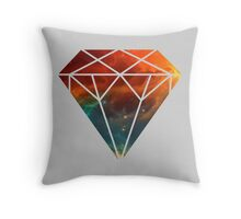 Galaxy Diamond Throw Pillow