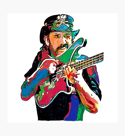 Lemmy klimster rainbow paint Photographic Print